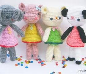 pdf girlgang amigurumi crochet pattern-luulla