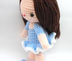 pdf bella ballerena girl amigurumi crochet pattern-luulla