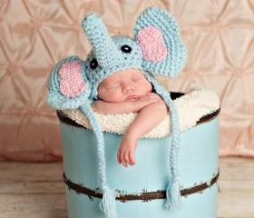 pdf elephant crochet hat pattern size 0-3months-luulla
