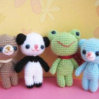pdf brownie and his friens amigurumi crochet pattern-luulla