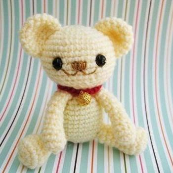 pdf teddy bear milo amigurumi crochet pattern-luulla