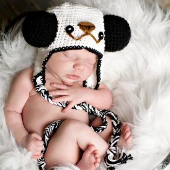 pdf crochet pattern( how to tutorial) Panda hat size newborn- 1 years